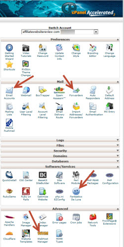 See what you get in cPanel